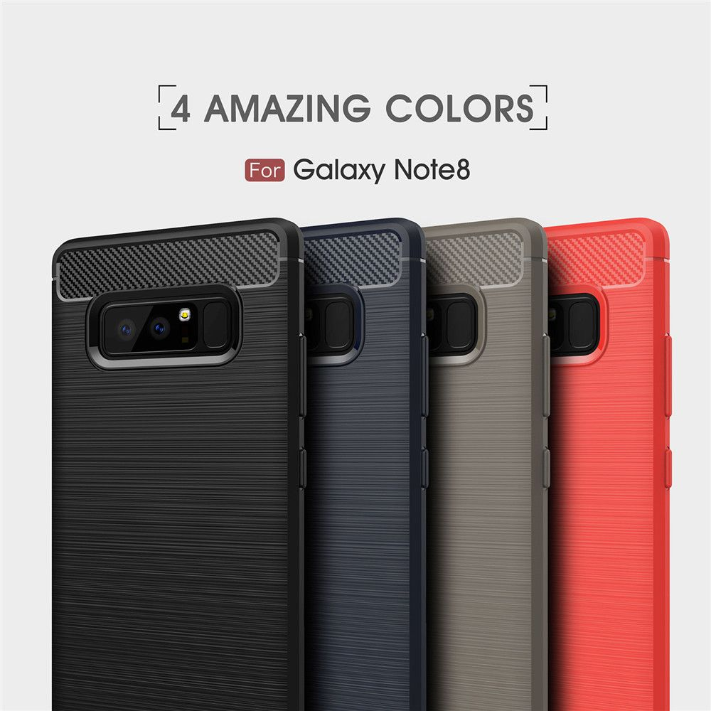 For Samsung Note 8 Frosted Back Cover Case Solid Color Soft TPU