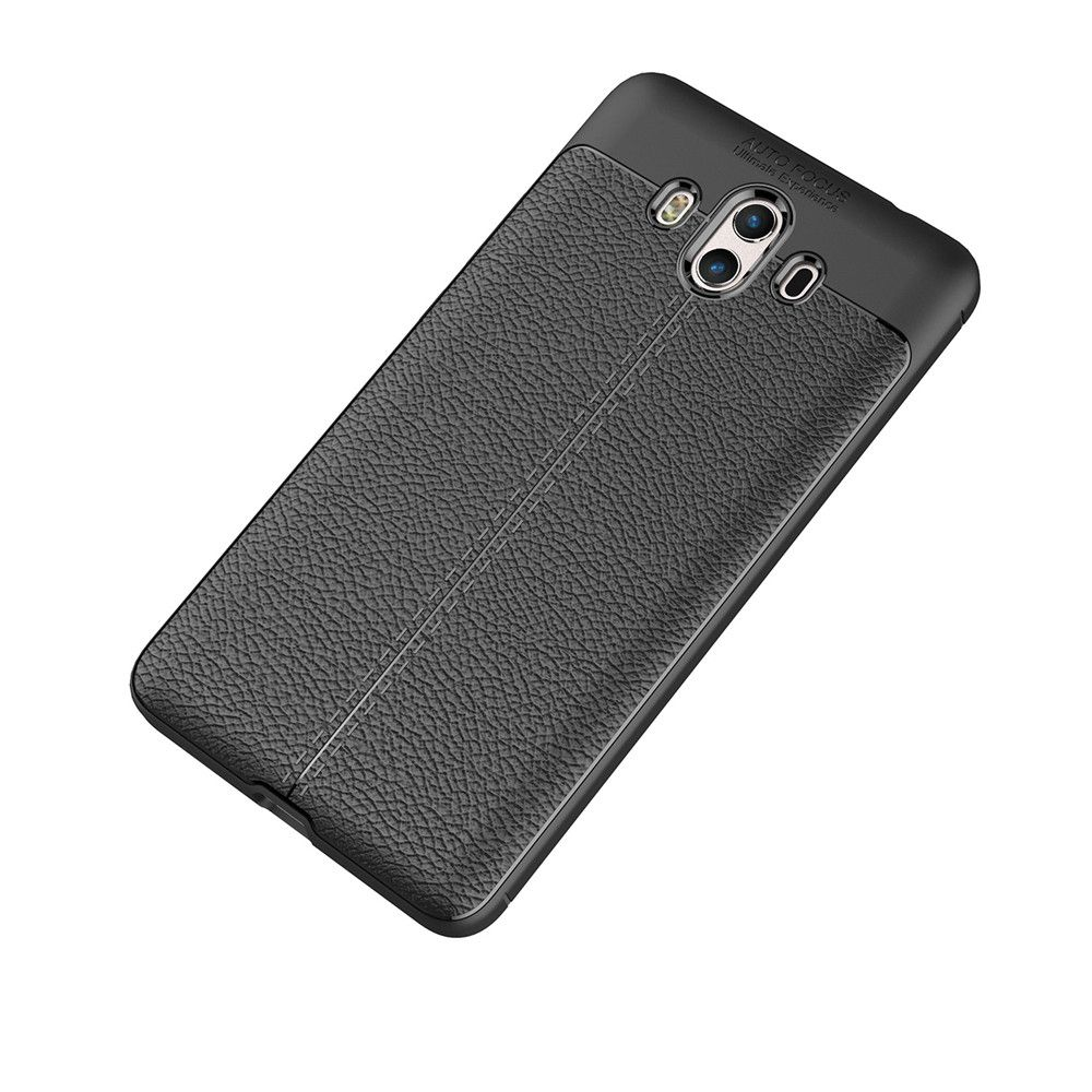 Luxury Leather Business Litchi Pattern PU Soft TPU Cover Case for  Huawei P10 Plus