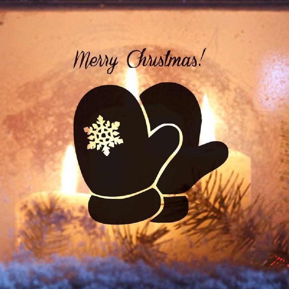DSU Cute Christmas Santa Glove Snowflake Pattern Door Wall Decor