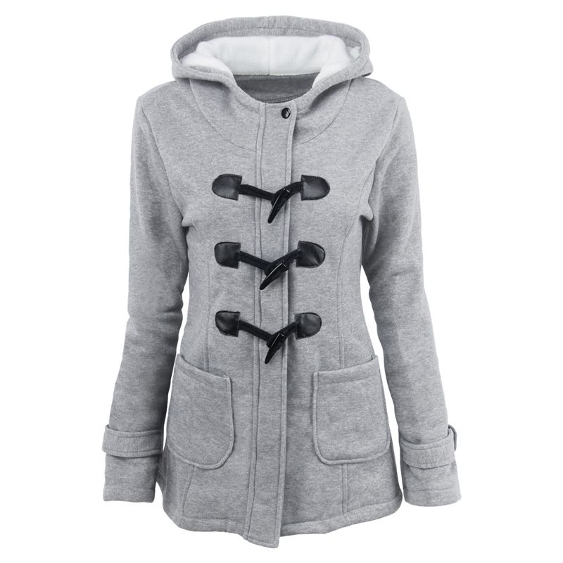Medium Long Style Korean Style Hooded Coat