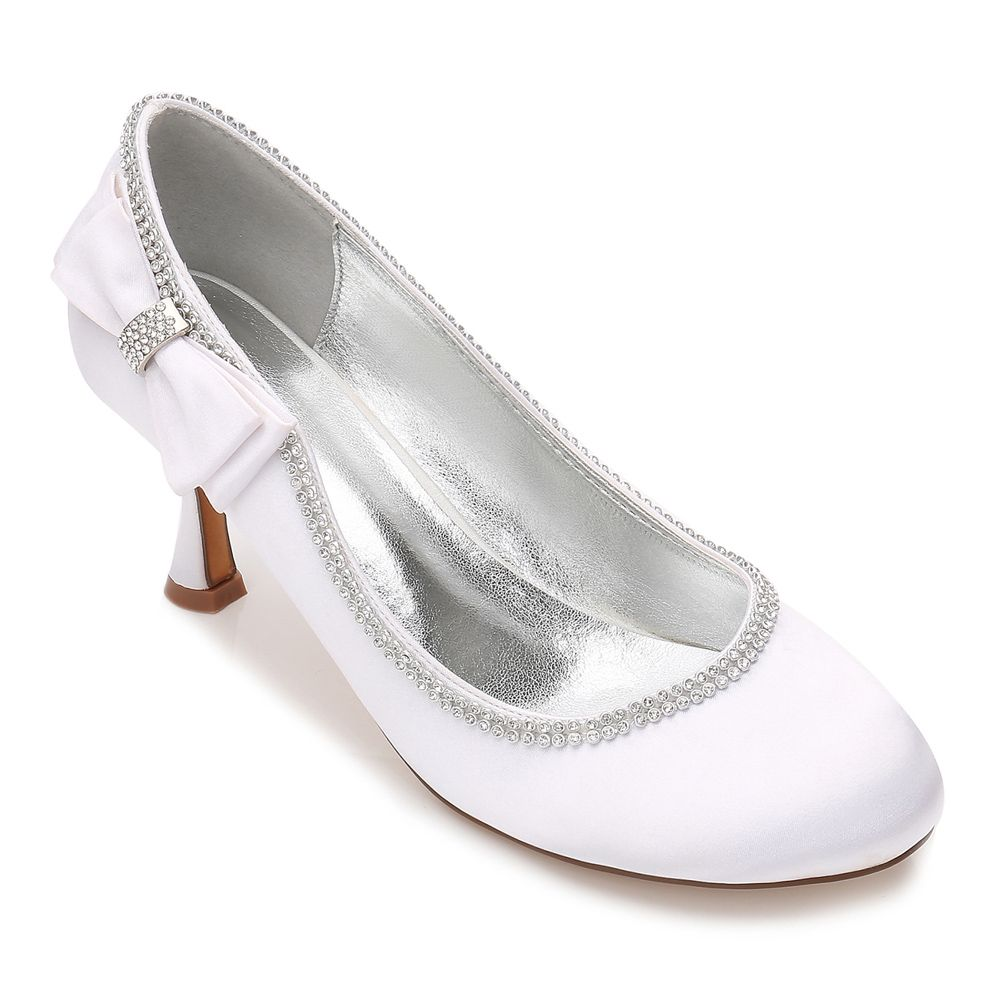 2018 womens wedding shoes comfort basic pump ankle strap for Comfortable wedding dress shoes