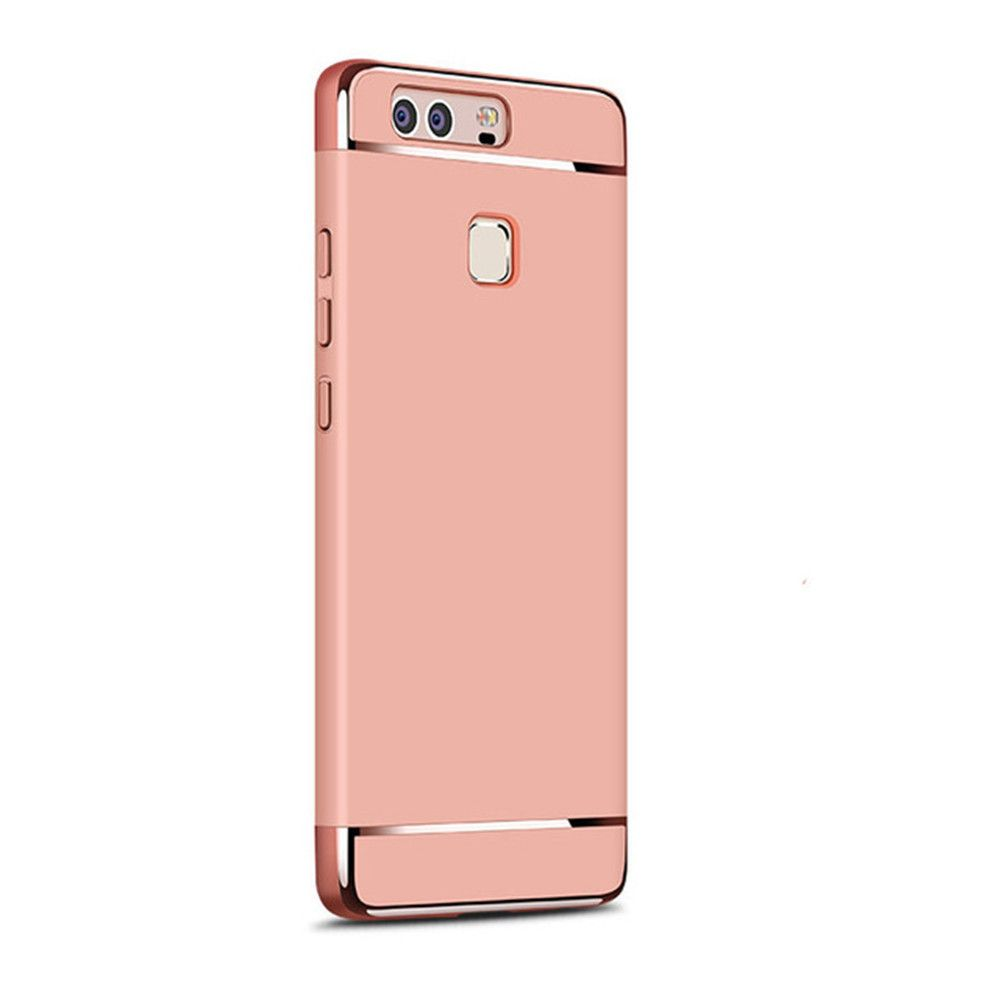 Luxury Hybrid 3 in 1 Plating PC Hard Back Cover for Huawei P9 Plus