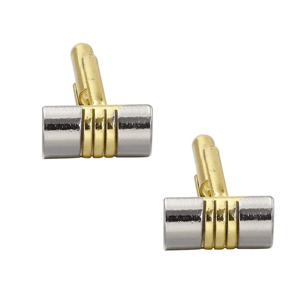Luxury French Cufflinks for Men'S Gift Gold Plated Simple Style Cuff Links