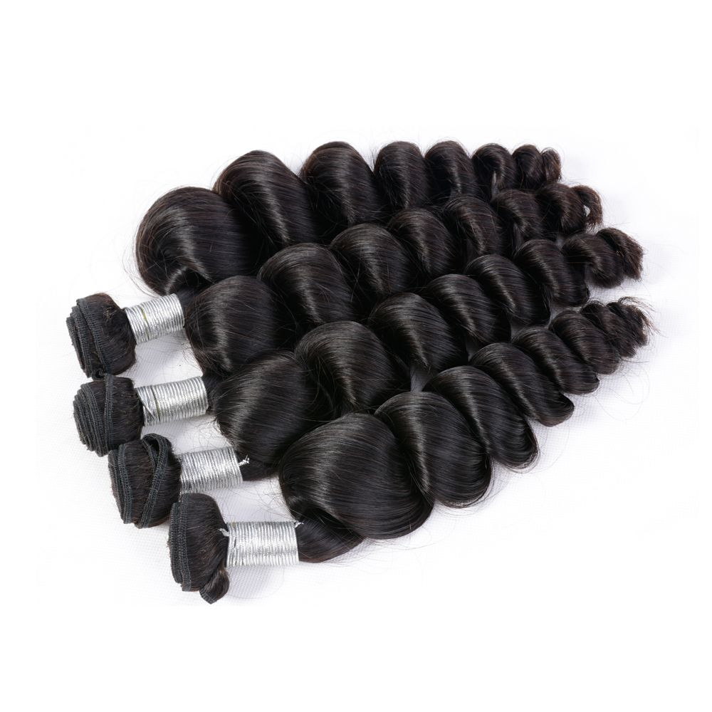 Brazilian Unprocessed Loose Wave Natural Color Virgin Human Hair Extension 1 bundles