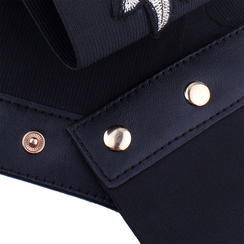 Vintage Embroidered Women Rose Sexy Slim Waist Tie-up Paper Tapes