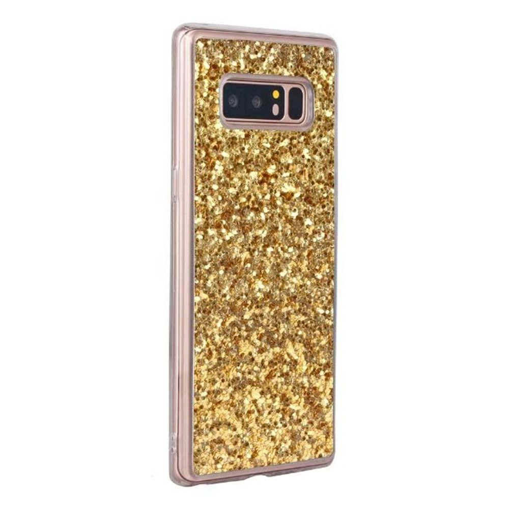 Shockproof Glitter Sparkly Dual Layer Hybrid Hard Soft TPU Bumper Anti-Slip Protective Case for Samsung Galaxy Note 8