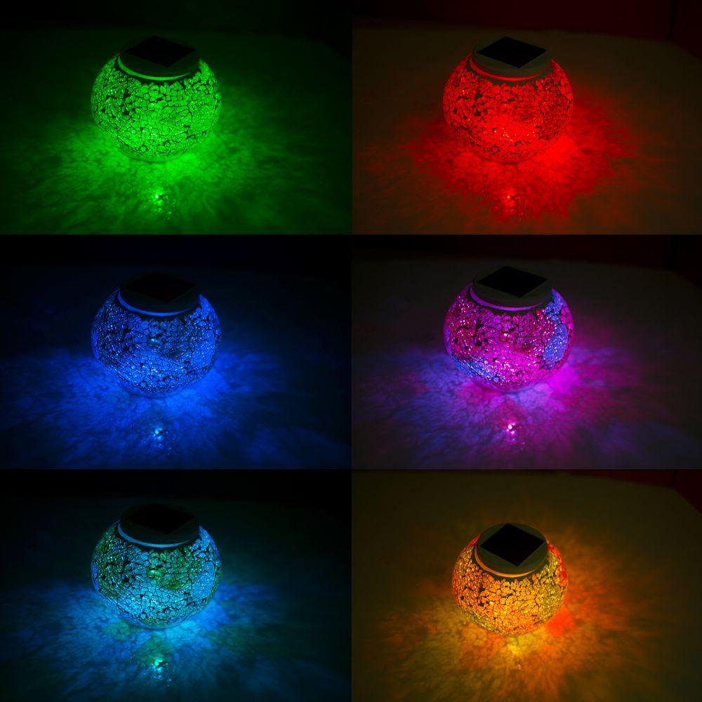 Solar Mosaic Glass Table Light