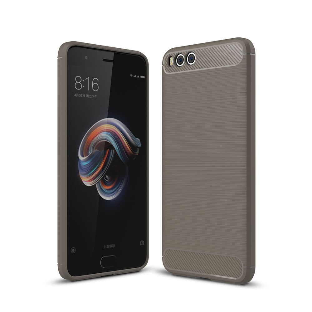 Shockproof Back Cover Solid Color Soft Carbon Fiber Case for Huawei Xiaomi Note 3