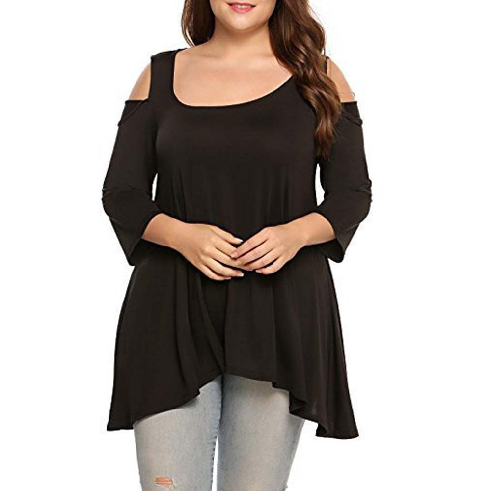 Fat MM Large Size Women T-Shirt and Pure Strapless Seven Sleeves