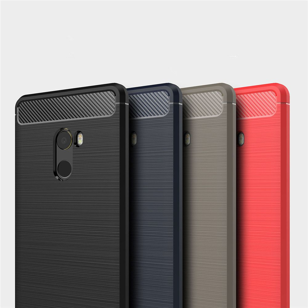 Shockproof Back Cover Solid Color Soft Carbon Fiber Case for Xiaomi Mix 2