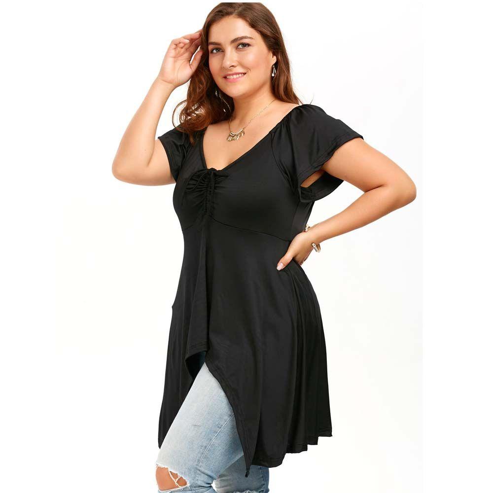 Short Sleeves Two Irregular Dress