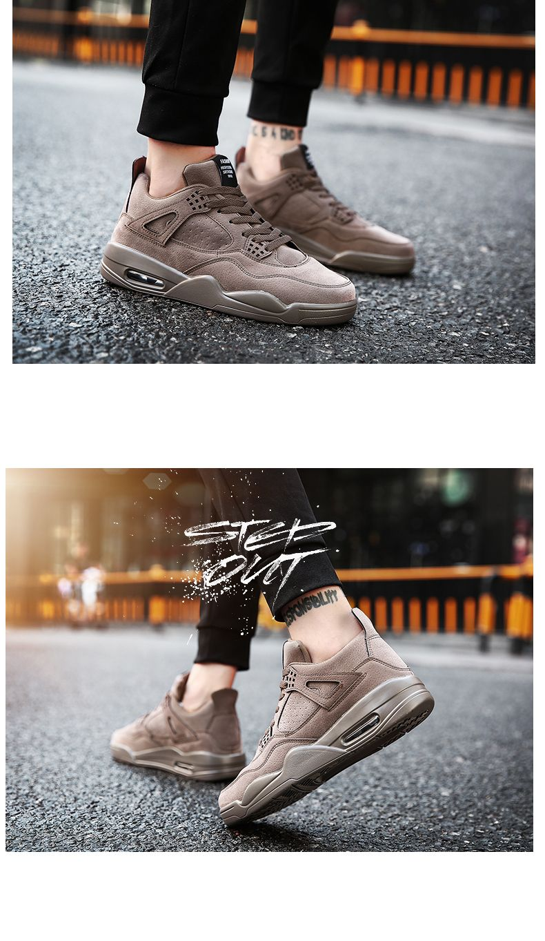 Autumn and Winter New Breathable Men'S Casual Sports Basketball Shoes