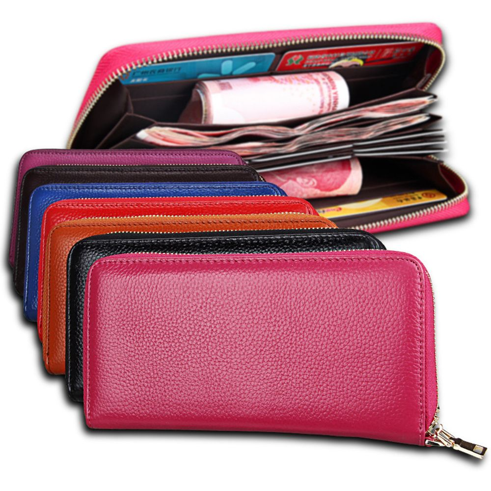 Fashion Women Long Wallets New Style Leather Purses Card Holder Coin Bag Female