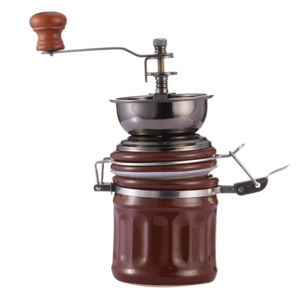 Retro Hand Coffee Beans Grinder Pepper Spices