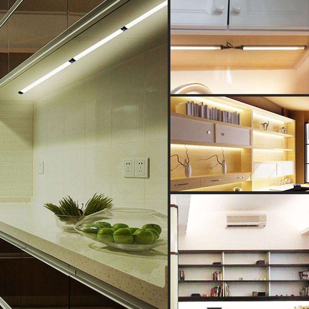 18W 1550LM 12V 12 inch Dimmable LED Under Cabinet Lighting Total Accessories Included Closet Light Fixtures 3PCS