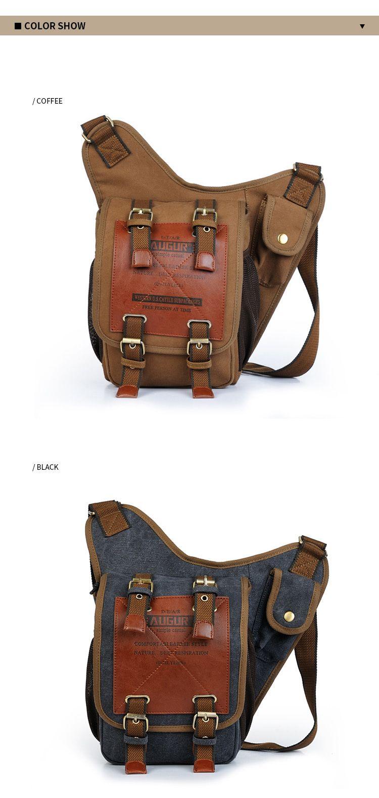 AUGUR New Canvas Men Fashion Shoulder Multifunction Messenger Bag