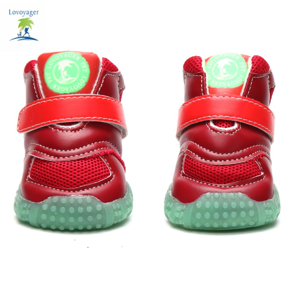Lovoyager VB1024 Autumn and Winter Warm Antiskid Luminous Dog Shoes