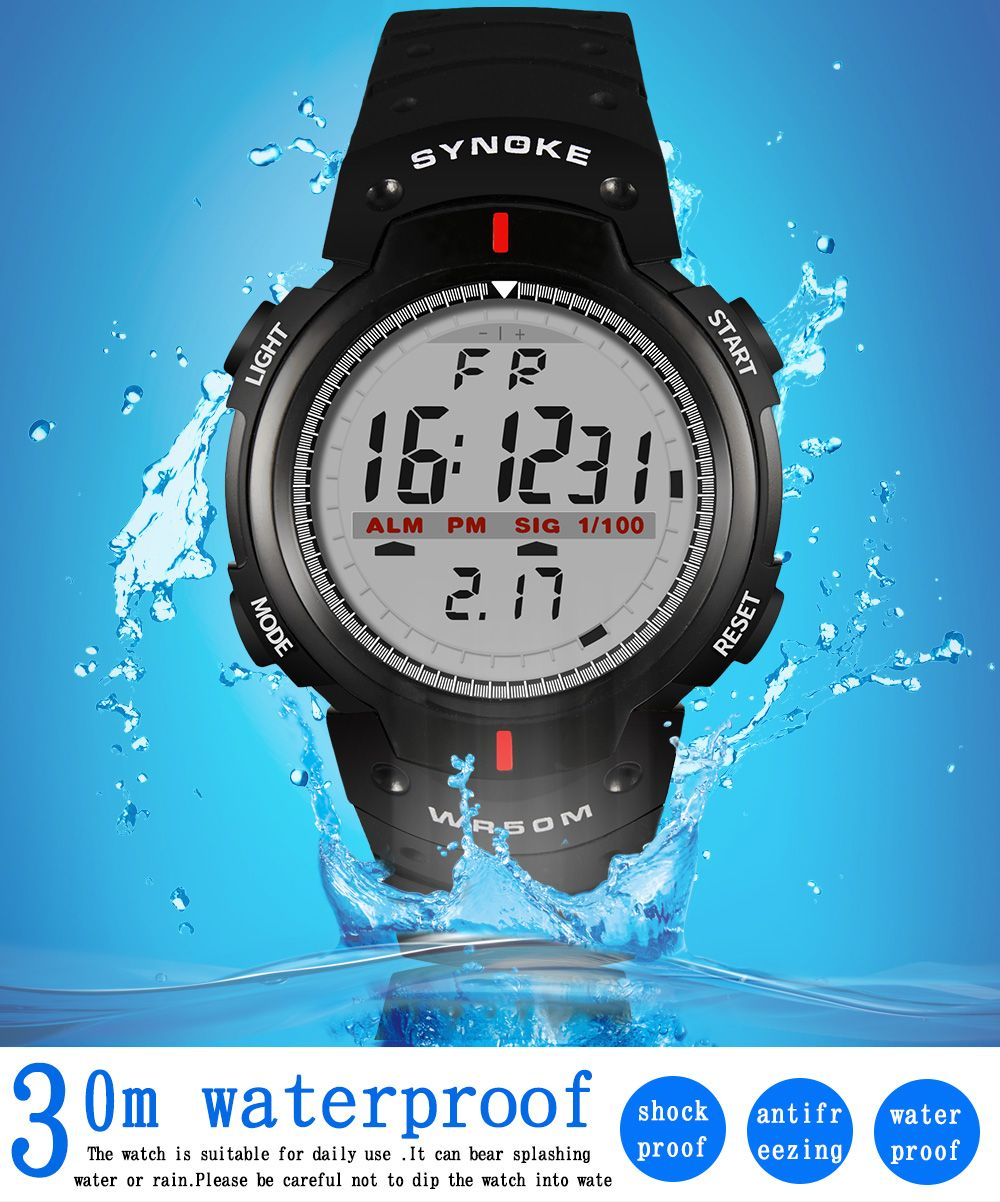 SYNOKE 61576 Sports Men Waterproof Outdoor Watch