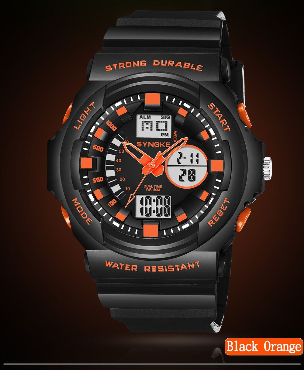 SYNOKE66866Outdoor Climbing Waterproof Electronic Watch Man