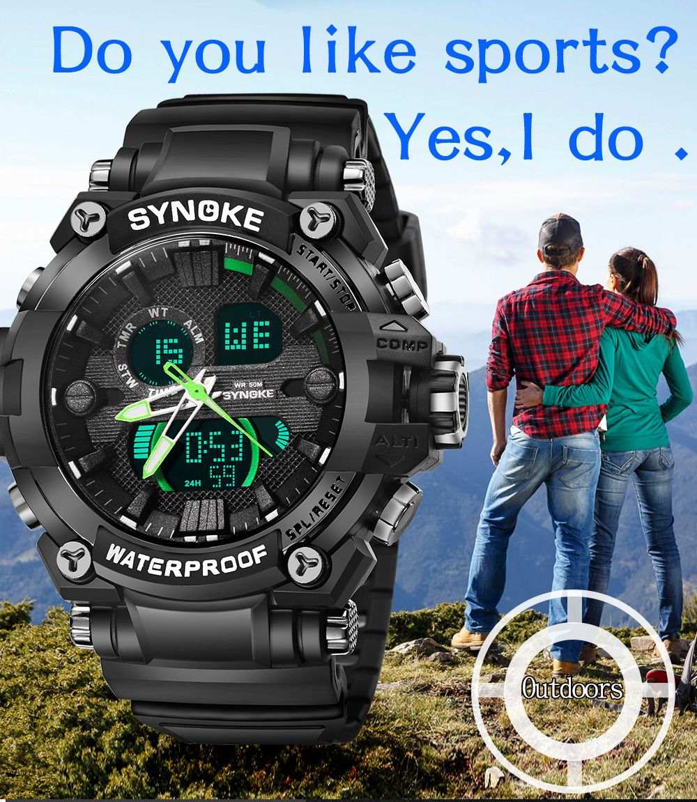 SYNOKE 67356 Men Outdoor Sports Watch