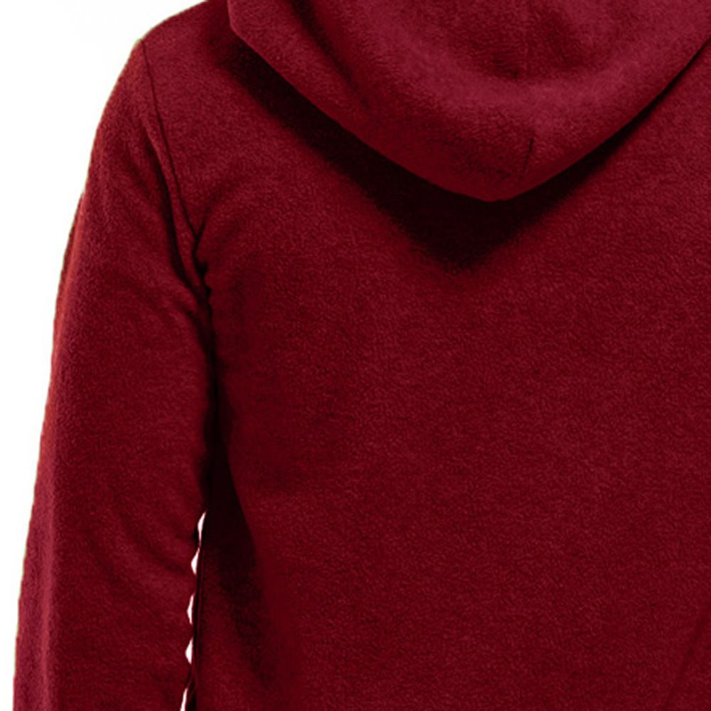 Men's Hoodie Unique Design Solid Color Fashion Zipper Soft Hoodie