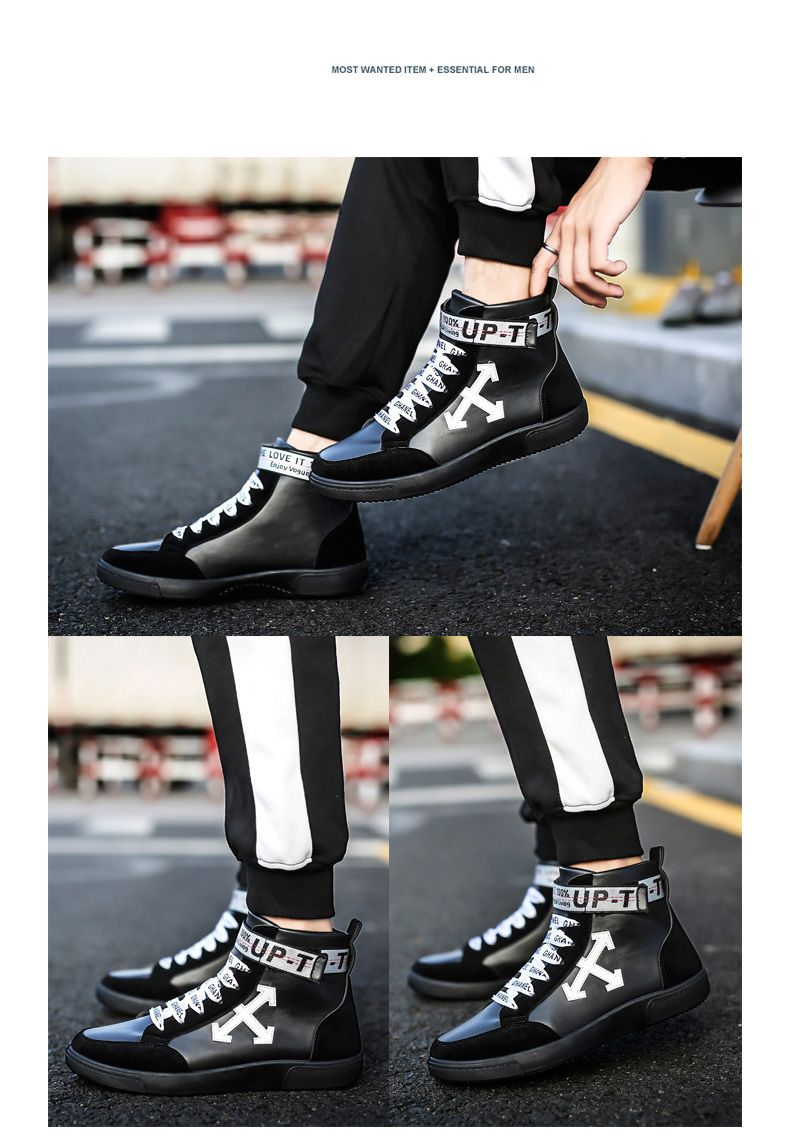 Autumn and Winter High-Top Fashion Personality with Men'S Shoes