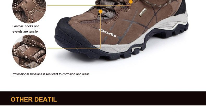 Clorts Hiking Boots Hot Sale Waterproof Uneebtex Hiking Shoes Genuine Leather Outdoor Sneakers for Men