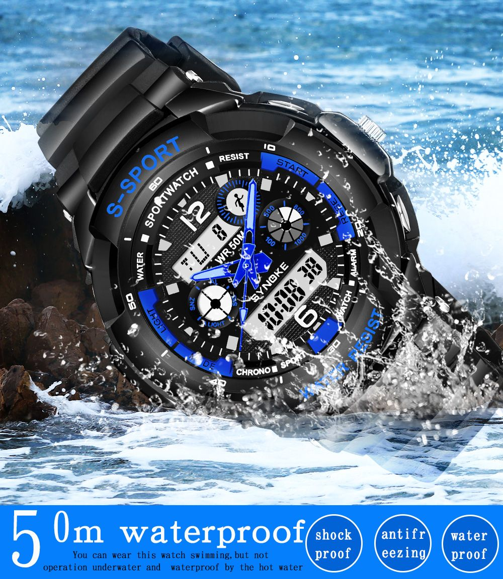 SYNOKE 67316 Waterproof Men Sports Watch
