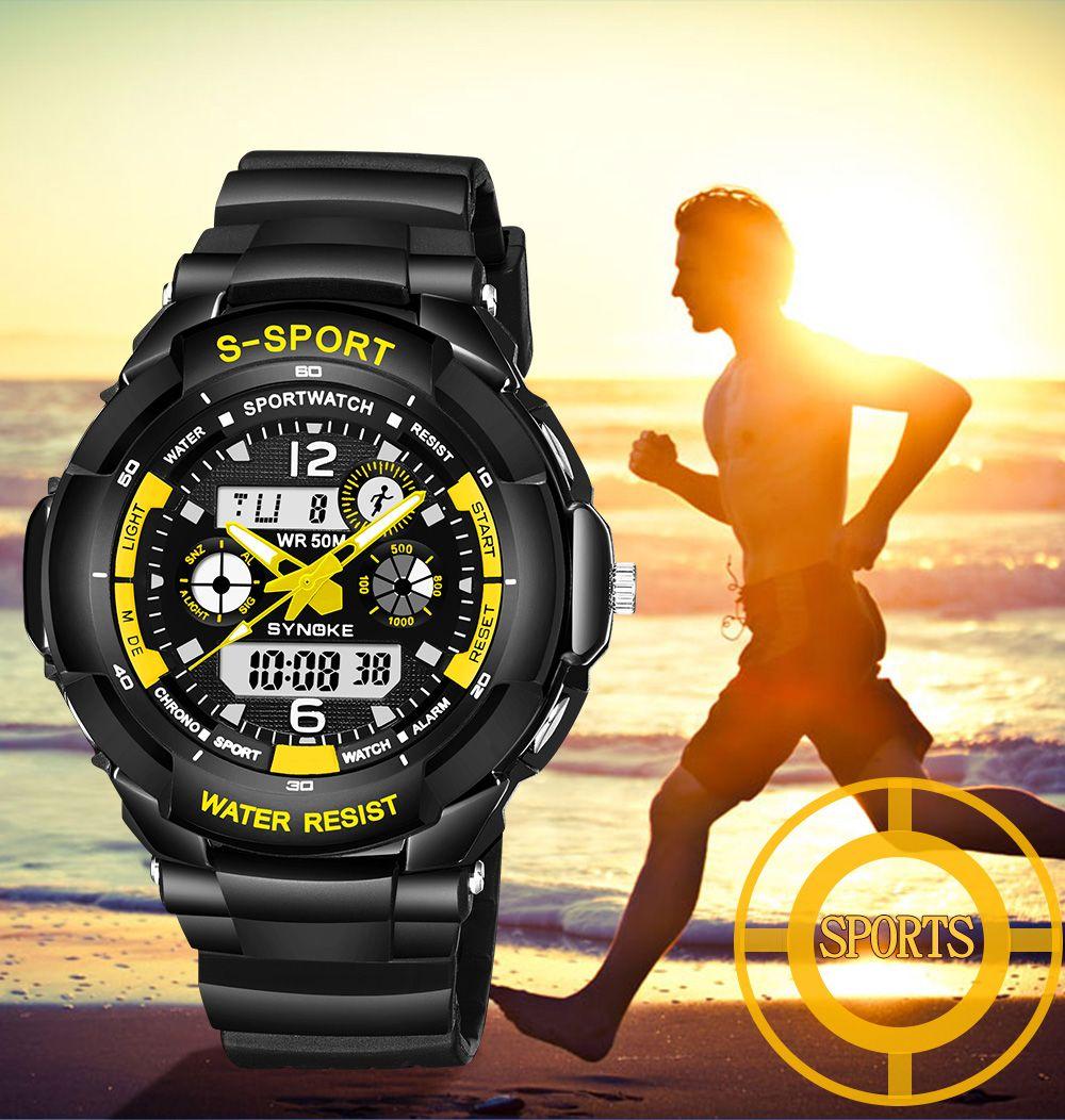SYNOKE 67316 Waterproof Men Sports Watch