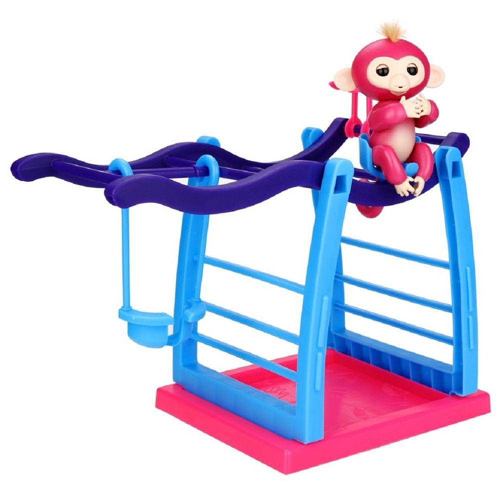 Interactive Jungle Gym Playset Climbing Stand Platform for Monkey