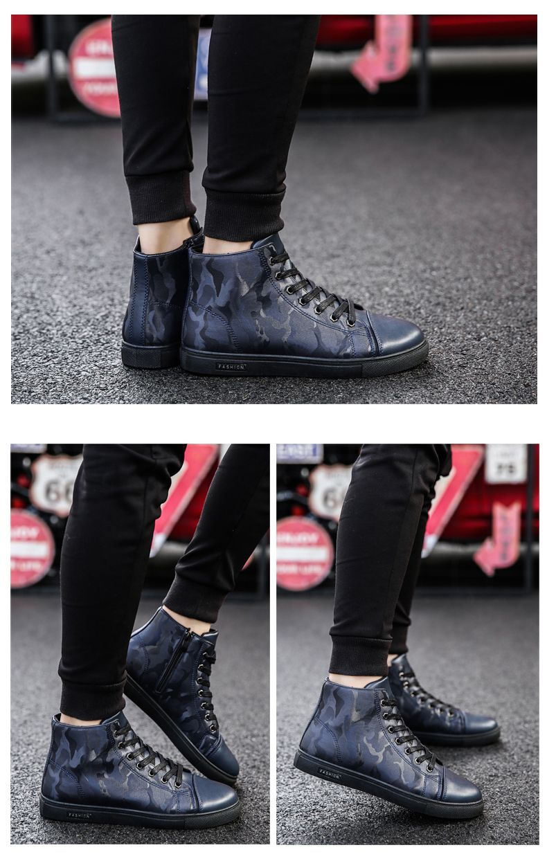 Winter High-Size Large-Size Lace Up Outdoor Sport Men'S Shoes