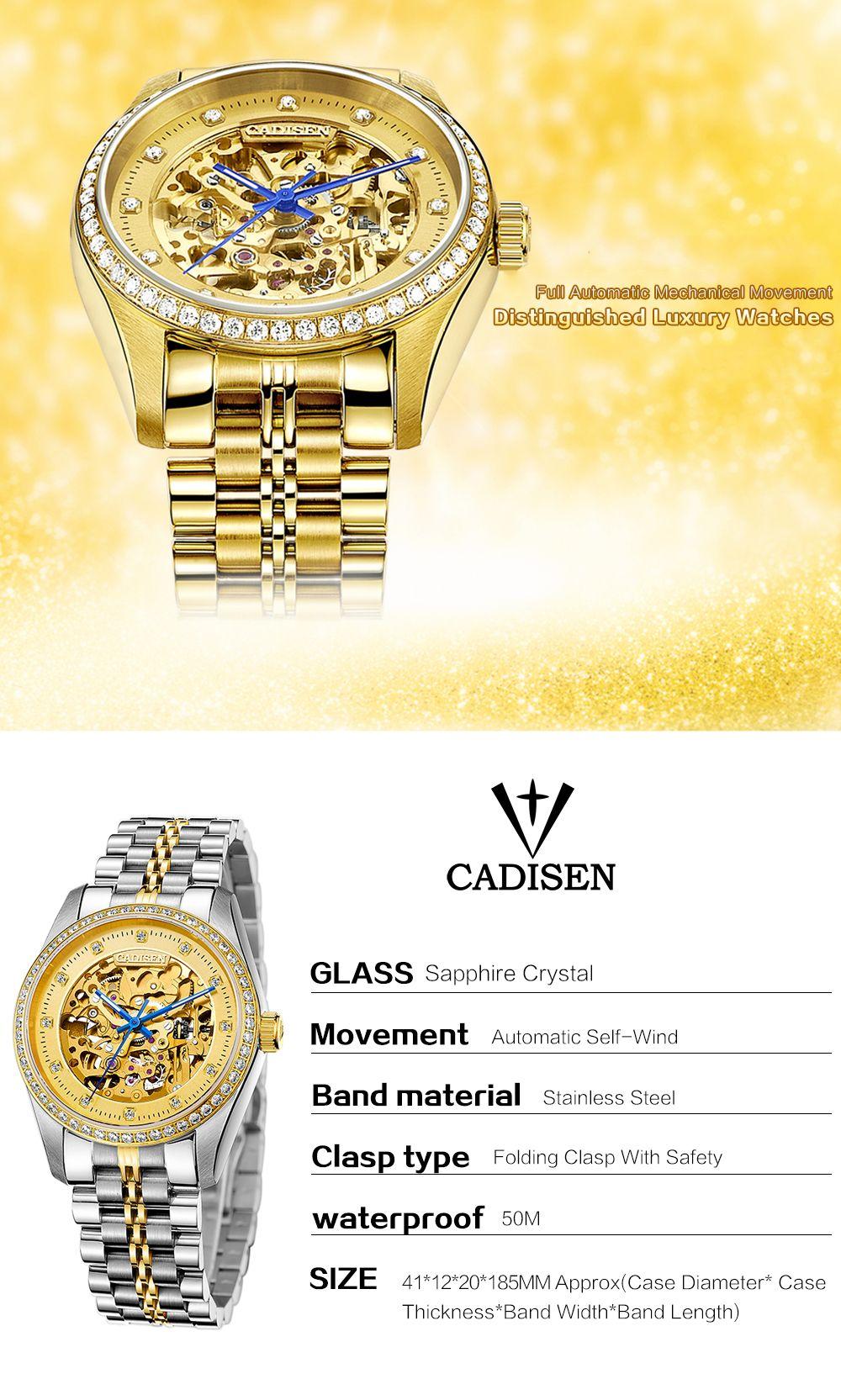 CADISEN C8105 Men Waterproof  Mechanical Watch