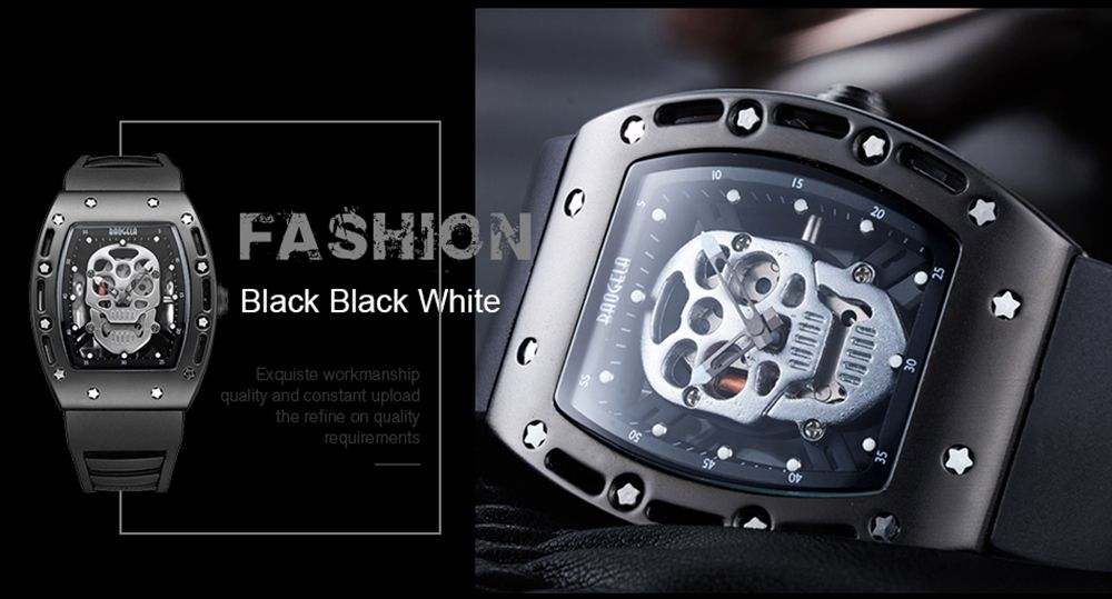 Baogela 1612 Fashionable Creative Silicon Band Men Watch