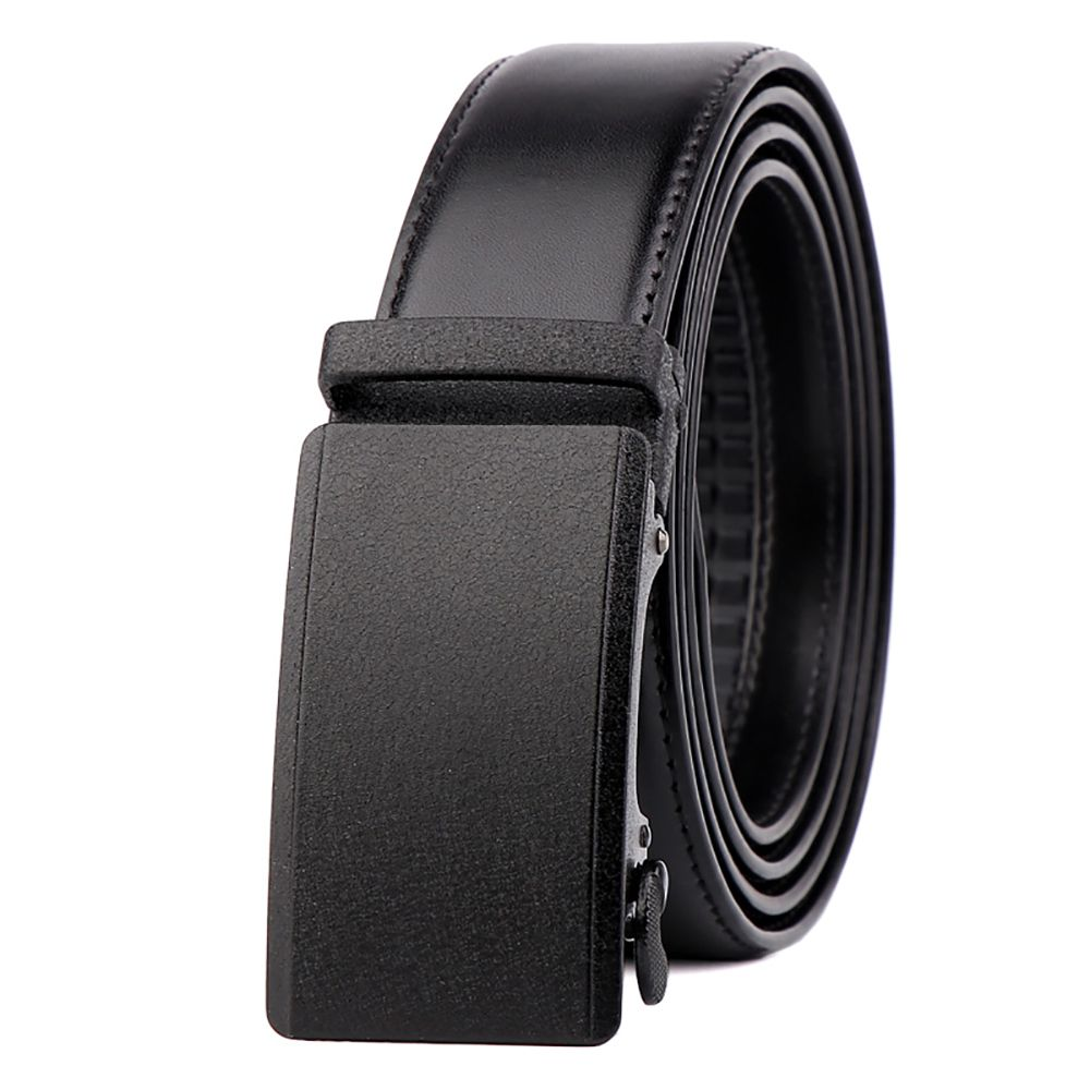 Men Leather Belt with Reversible Single Prong Buckle G89003