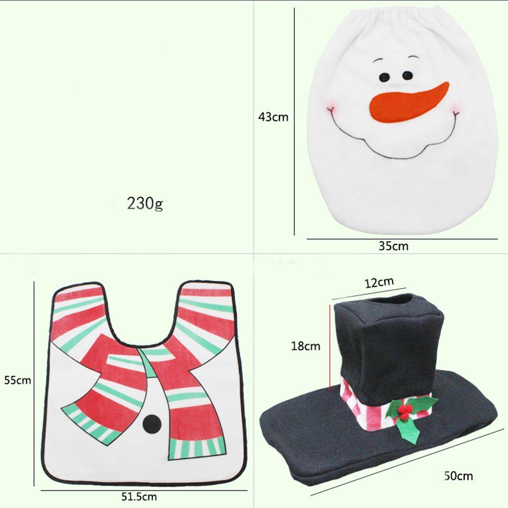 Christmas Snowman Toilet Decoration Set