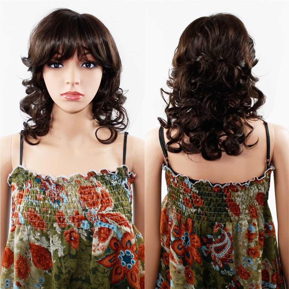 Women Long Wavy Curly Wave Full Hair Wig for Cosplay Party Costume