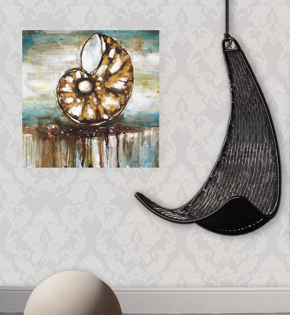 XiangYunChengFeng  Abstract Conch Shell Home Decor Canvas Oil Painting