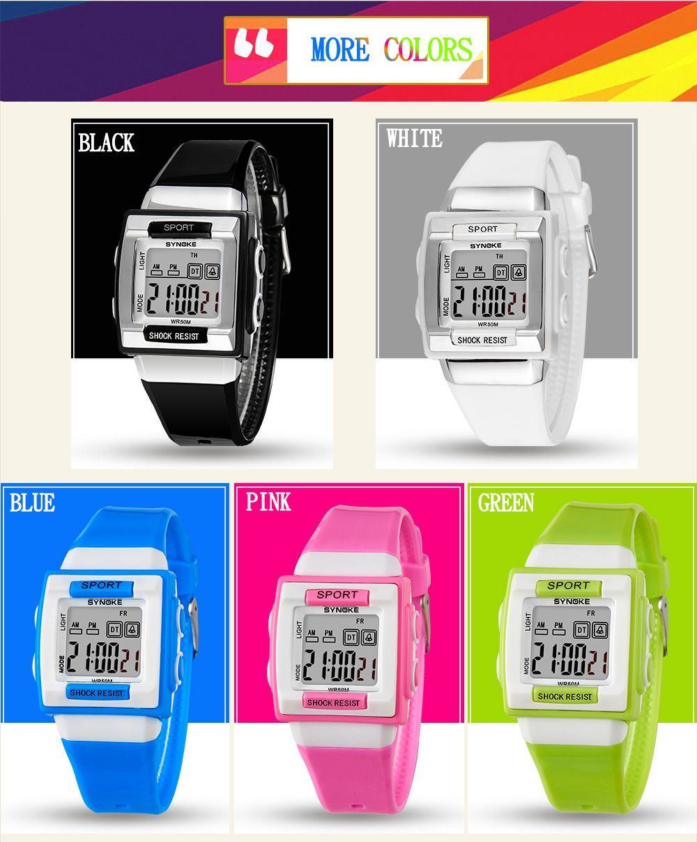 SYNOKE 66188 Youth Multi-function Electronic Watch