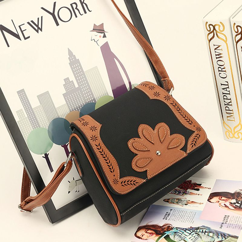 Women's Crossbody Bag Retro Mori Girl Style Floral Patchwork Bag