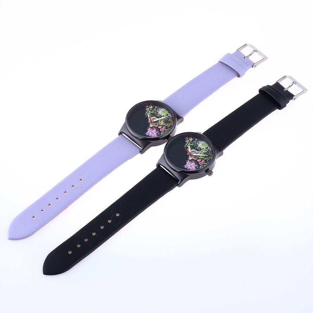 Fashionable Woman Flower Pattern Quartz Watch