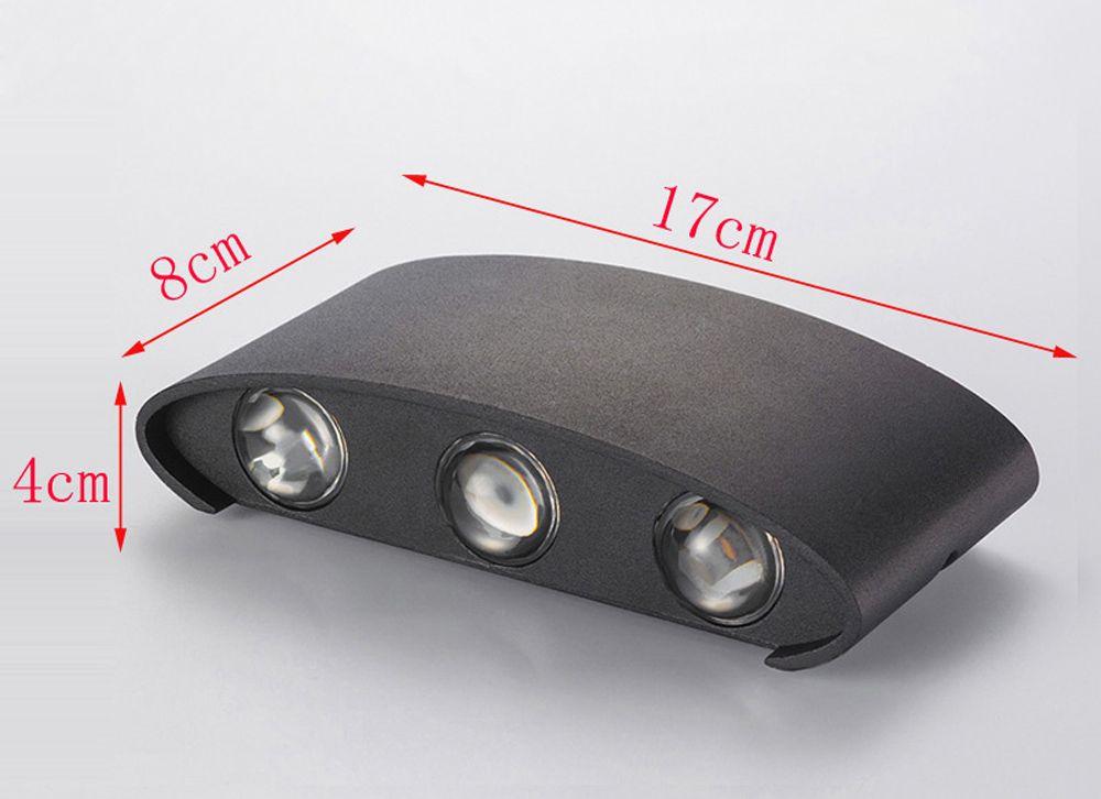 Jiawen 6W Aluminum LED Wall Light Bedside Bedroom Porch Stair Lamp AC 85 - 265V