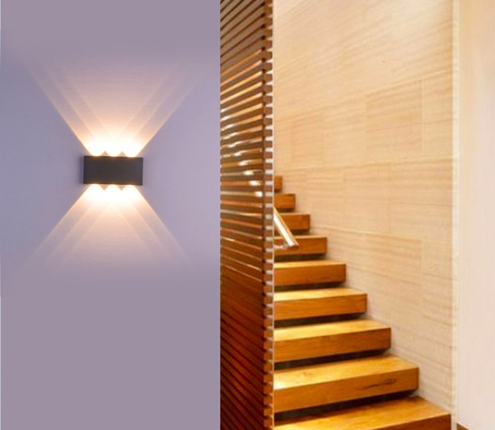 Jiawen 6W Aluminum LED Wall Light Bedside Bedroom Porch Stair Lamp AC 85 - 265V