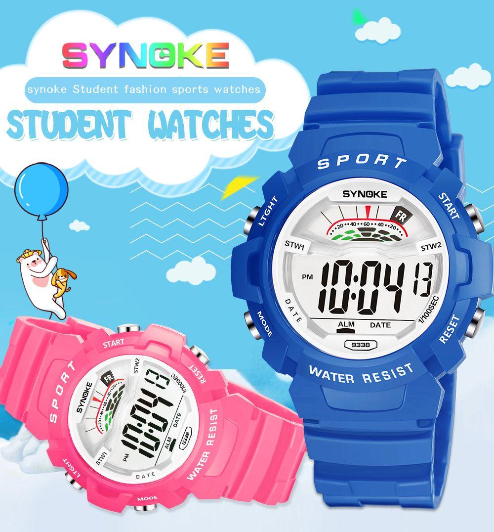 SYNOKE 9348 Student Waterproof Night Light Fashion Children Watch