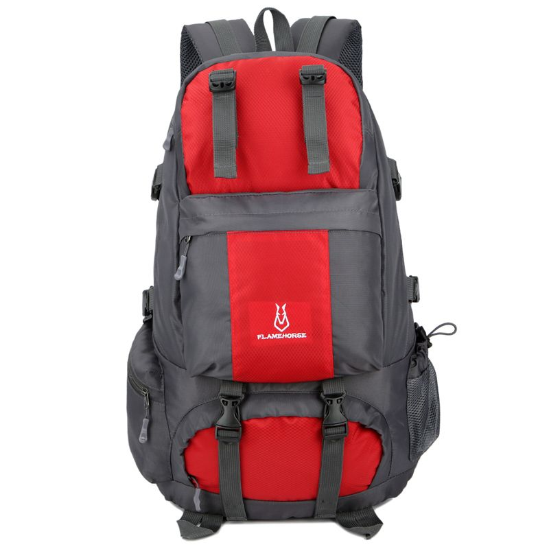 FLAMEHORSE Outdoor Mountaineer Bag 50L Large Capacity Nylon Waterproof Travel Backpack