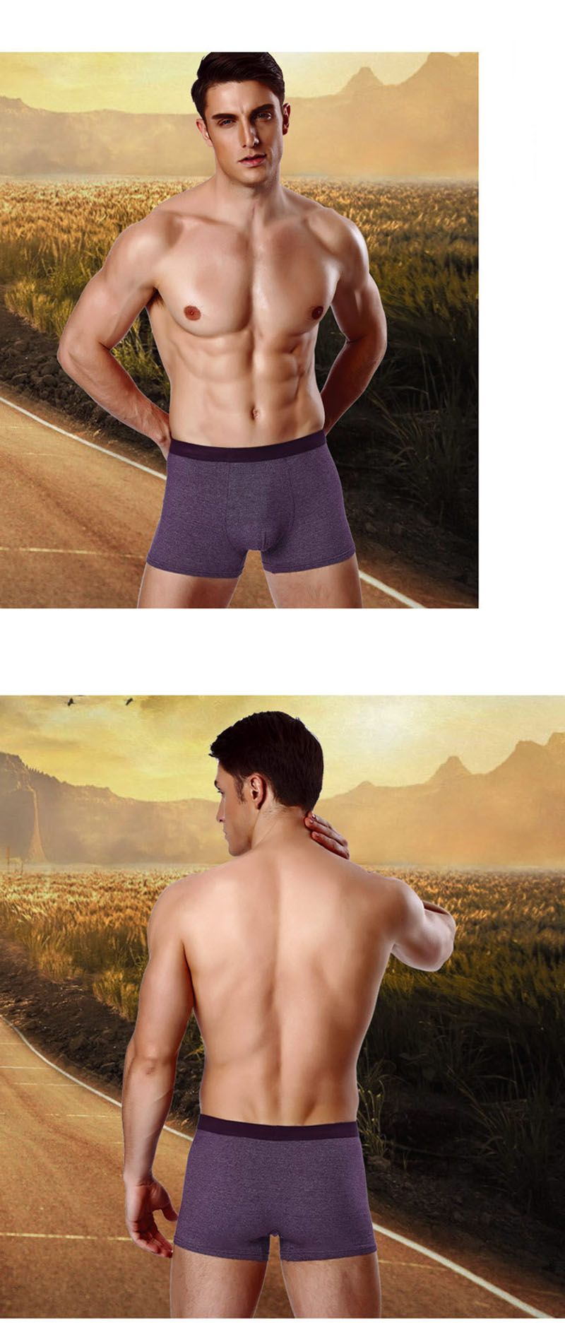 4Pcs Shorts Modal Boxer Printed Underwear