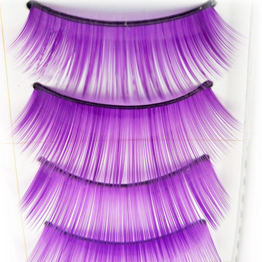 10 Pairs Purple Thick False Eyelash Tool Kit Suit
