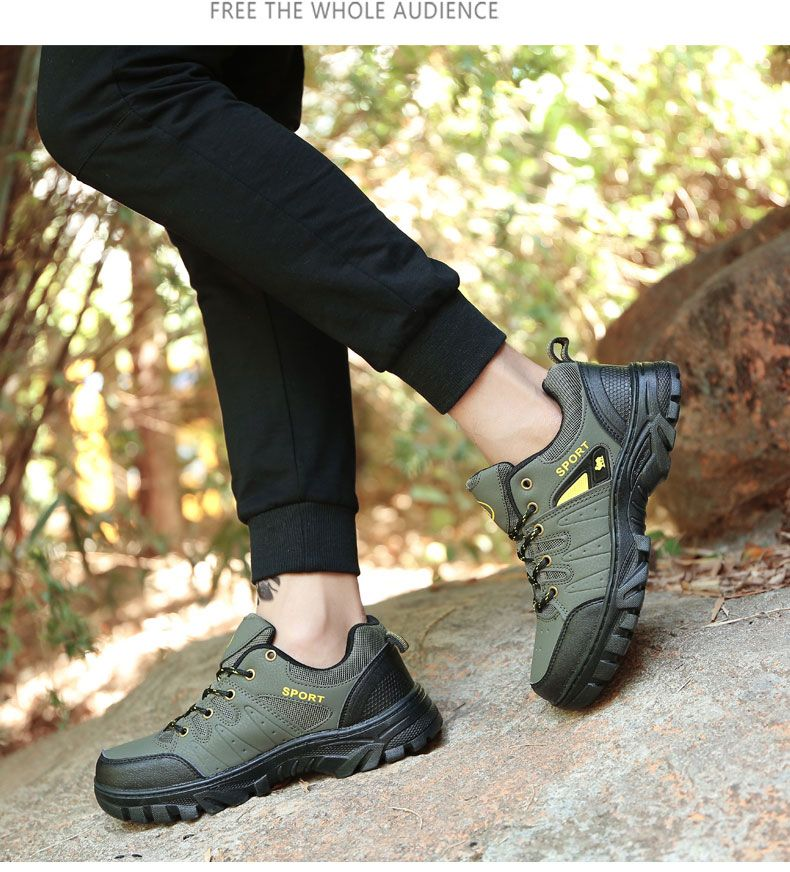 Autumn and Winter Non-Slip Warm Sports Men'S Hiking Shoes