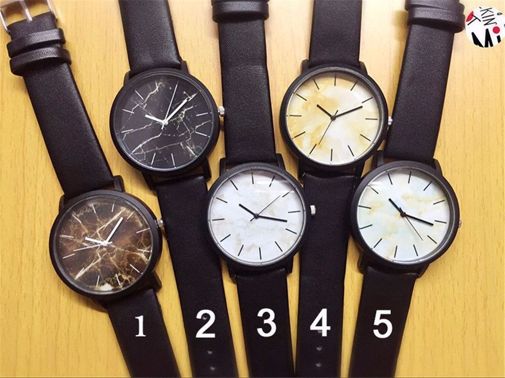 Fashionable Creative Leather Band Unisex Quartz Watch