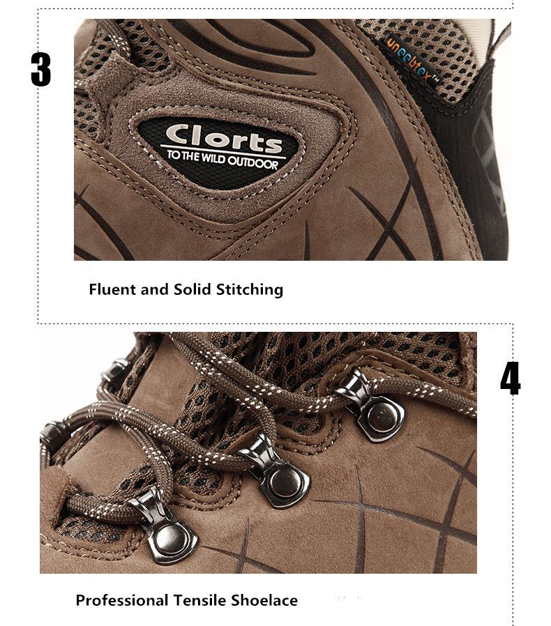 Clorts Hiking Shoes Women Waterproof Outdoor Hiking Boots Athletic Sneakers