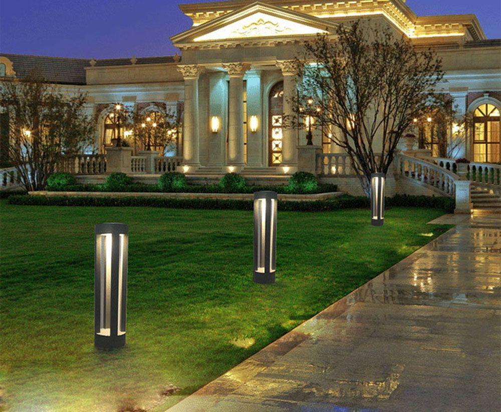 JIAWEN Simple Modern Outdoor Waterproof Lawn Lamp LED Aluminum Garden Light AC 85 - 265V